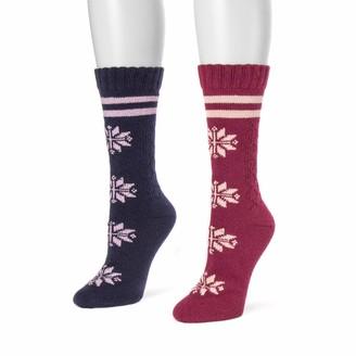 Muk Luks Women's 2 Pair Pack Boot Socks