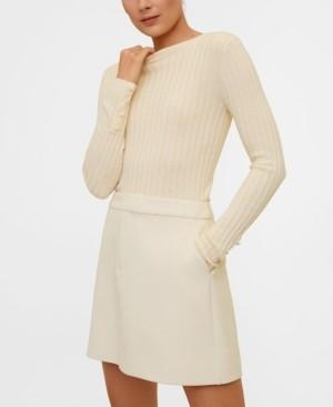 MANGO Women's Straight Mini Skirt