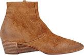 Marsèll Women's Suede Wedge-Heel Ankle Boots-TAN