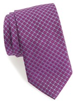 David Donahue Men's Grid Silk Tie