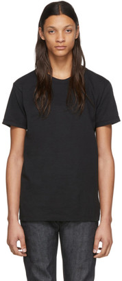 Naked & Famous Denim Denim Black Circular Knit T-Shirt