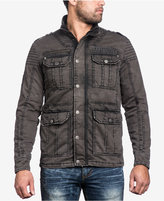 Affliction Men's Quilted Window Pane Military Jacket