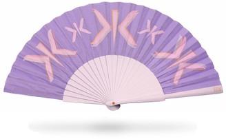 Khu Khu Lilac Letter Hand Fan