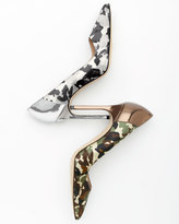 Manolo Blahnik BB Camo 105mm Specchio-Heel Pump