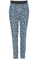 Select Fashion Fashion Womens Blue Flirty Floral Soft Trousers - size 6