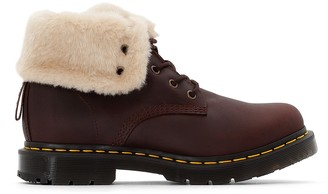 Dr. Martens Kolbert Ankle Boots with Lace-Up Fastening and Faux Fur Lining
