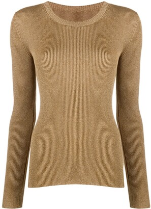 Temperley London Cordial metallic knit top