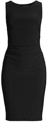 Norma Kamali Sleeveless Shirred Waist Dress
