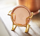Pottery Barn Copper Coasters, Set of 6