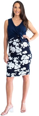 Blooming Woman Blooming Women Nursing Swing Top & Fitted Stripe Skirt Outfit
