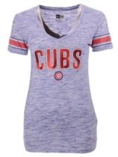 New Era Chicago Cubs Women's Space Dye T-Shirt