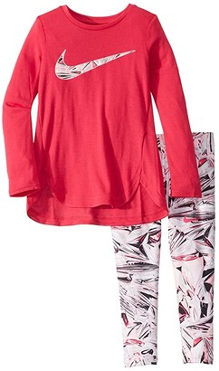Nike Dri-FITtm Sport Essentials Long Sleeve Tunic and Leggings Two-Piece Set (Toddler/Little Kids)