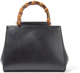 Gucci Nymphaea Bamboo Small Leather Tote - Black