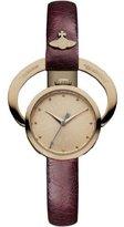 Vivienne Westwood Women's VV082RSRD Horseshoe Analog Display Swiss Quartz Red Watch