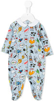 Fendi all-over print pyjamas - kids - Cotton/Spandex/Elastane - 6 mth