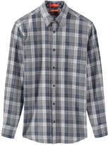 Joe Fresh Men's Melange Flannel Shirt, Grey Mix (Size L)