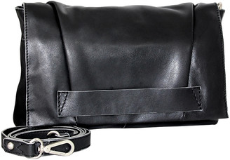 Nino Bossi Handbags Women's Handbags Black - Black Stephanie Convertible Leather Crossbody Bag