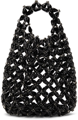 Simone Rocha Black Beaded Shopper Tote