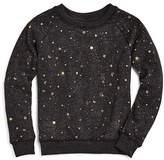 Spiritual Gangster Girls' Metallic Celestial-Print Sweatshirt - Big Kid