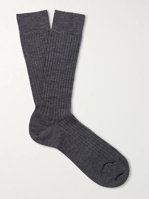 Marcoliani Milano Ribbed Merino Wool-Blend Socks