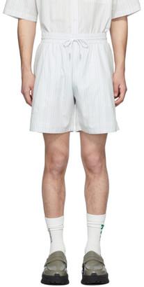 Han Kjobenhavn Grey Striped Track Shorts