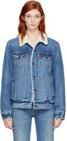 Levi's Levis Blue Type 3 Trucker Sherpa Denim Jacket