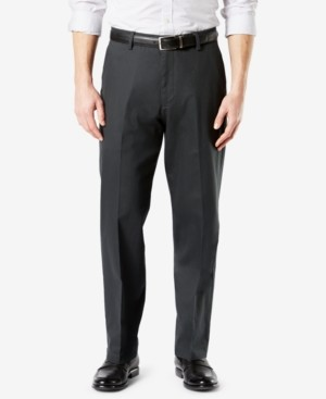 Dockers Signature Lux Cotton Relaxed Fit Creased Stretch Khaki Pants