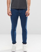 ONLY & SONS Jeans In Skinny Fit Blue Denim With Stretch