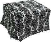 Grayson NEW Corp Newco Luxury Ottoman - Black/ White Damask