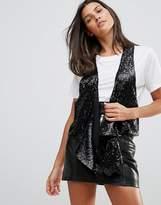 Millie Mackintosh Sequined Drapey Vest