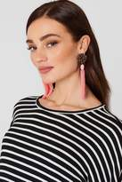MANGO Micro Beads Tassel Earrings