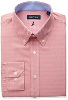 Nautica Men's Regular Fit Gingham Buttondown Dress Shirt