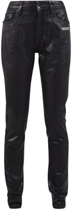 Off-White Off White Printed Skinny Fit Jeans