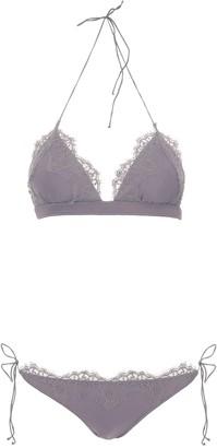 Oseree Travaille Lace Trim Bikini