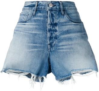 3x1 Frayed Edges Denim Shorts