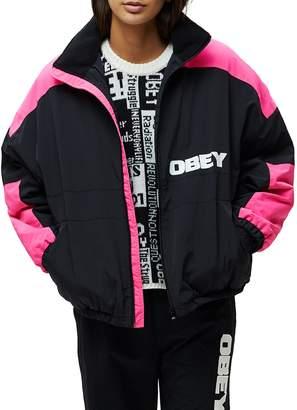 Obey Bruges Oversized Zip Jacket