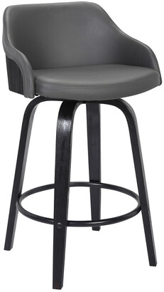 Armen Living Alec Contemporary 30In Bar Height Swivel Barstool