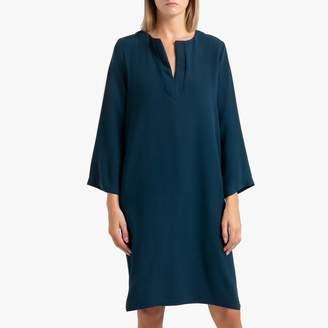 Toupy Line Long-Sleeved Shift Dress
