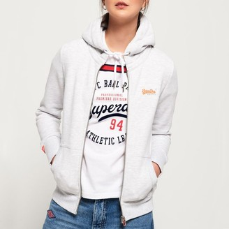 Superdry Cotton Mix Zip-Up Hoodie with Pockets