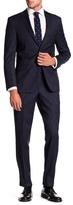 Simon Spurr Navy Pinstripe Wool Two Button Notch Lapel Suit
