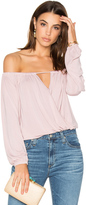 Krisa Off Shoulder Surplice Top
