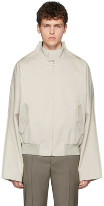 Maison Margiela Beige Outline Bomber Jacket