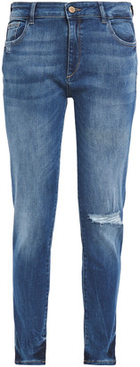DL1961 Distressed Mid-rise Skinny Jeans
