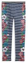 Jessica Simpson Girl's Floral Stripe Olive Leggings