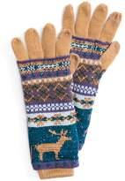 Muk Luks Women's 3-in-1 Reindeer Fairisle Tech Gloves