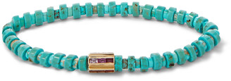 Luis Morais Gold, Sapphire And Bead Bracelet