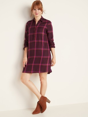 Old Navy Plaid Popover Shirt Dress for Women