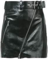 Amiri Moto leather mini skirt