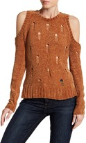 Ten Sixty Sherman Cold Shoulder Chenille Sweater