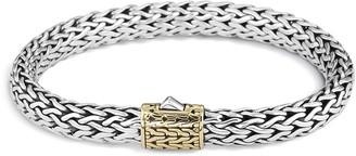 John Hardy 'Classic Chain' 18k gold silver medium bracelet